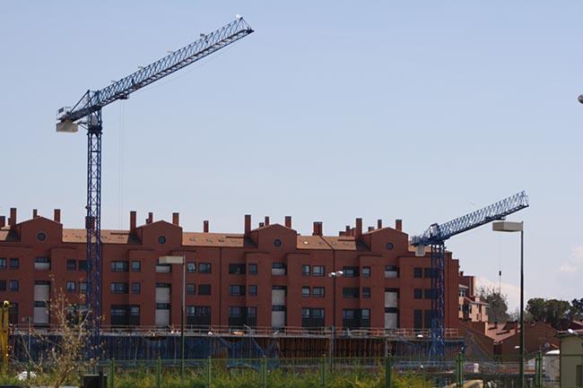 Grúas colegio Fuentecillas Burgos